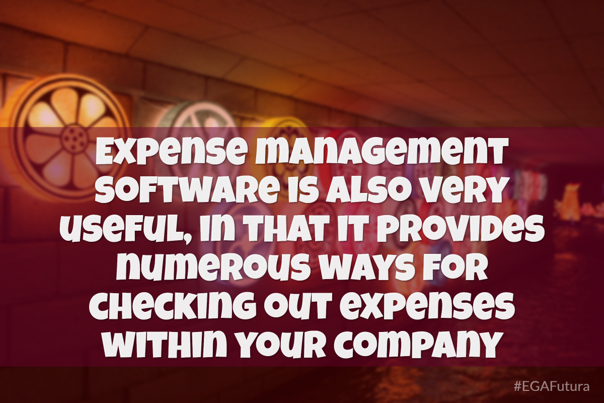 Expense management software is also very useful, in that it provides numerous ways for checking out expenses within your company