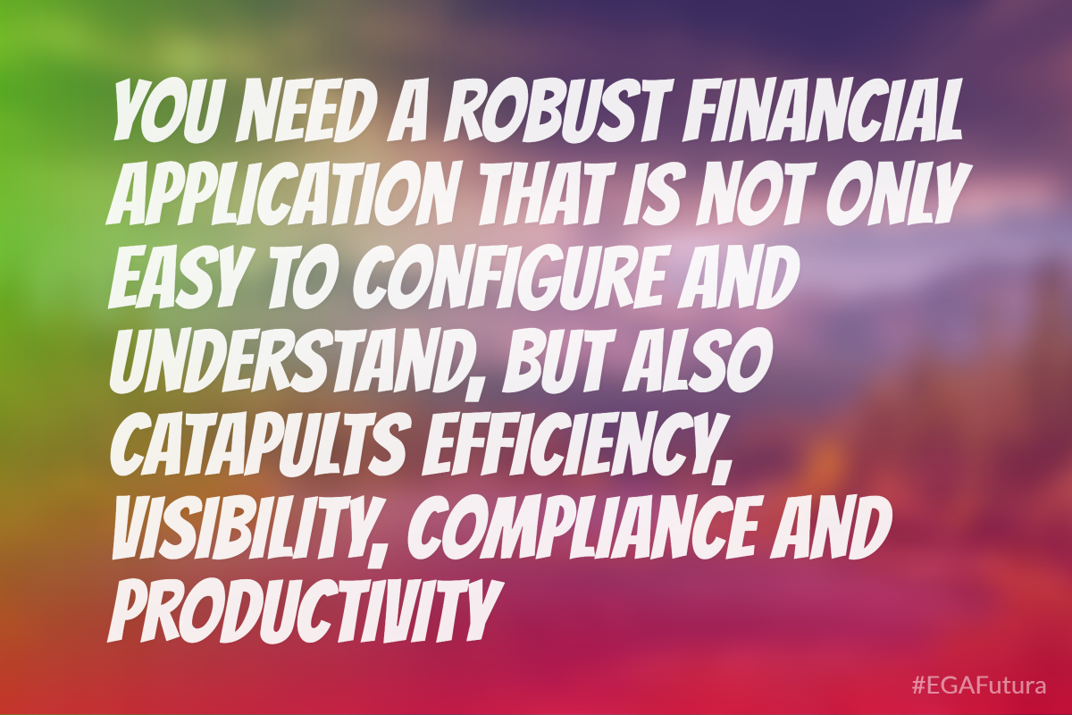 You need a robust financial application that is not only easy to configure and understand, but also catapults efficiency, visibility, compliance and productivity