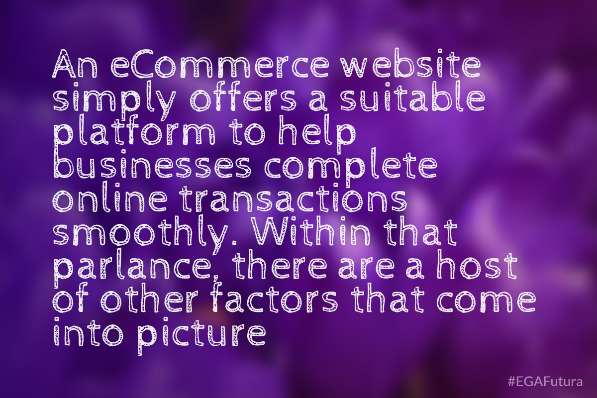 An eCommerce website simply offers a suitable platform to help businesses complete online transactions smoothly. Within that parlance, there are a host of other factors that come into picture