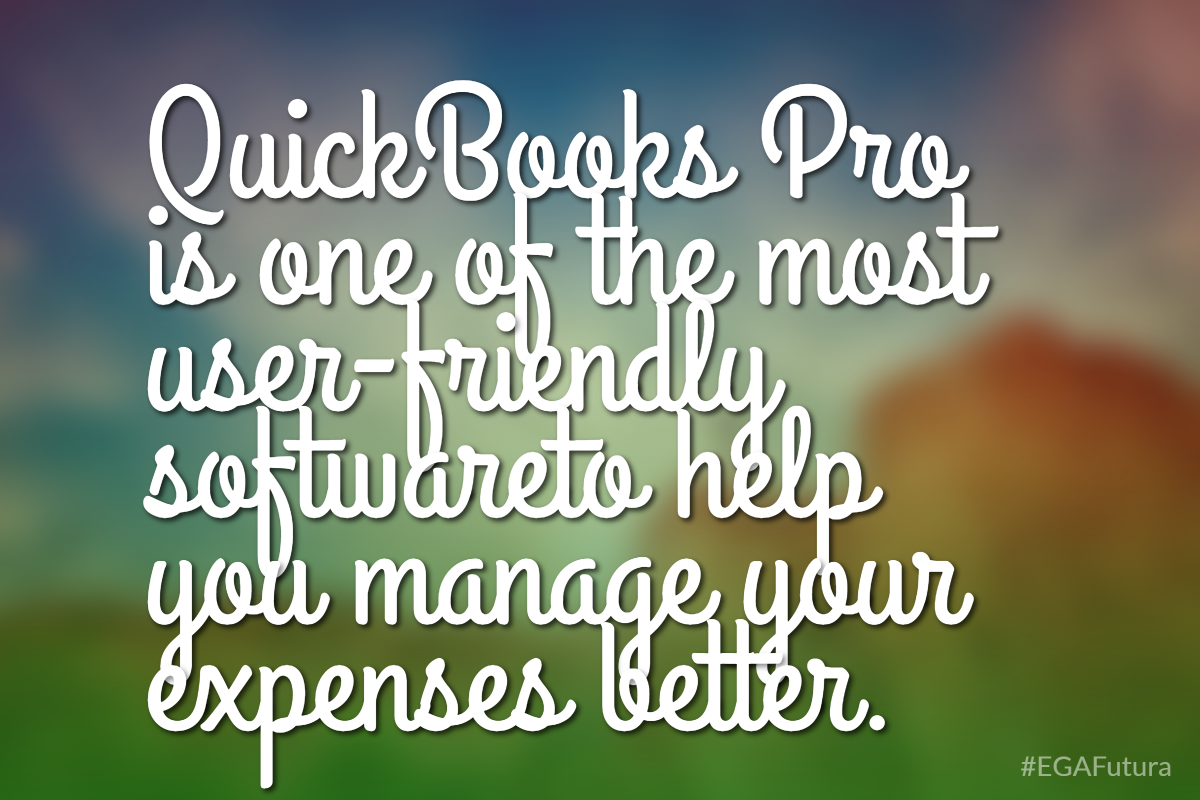 QuickBooks Pro is one of the most user-friendly softwareto help you manage your expenses better.