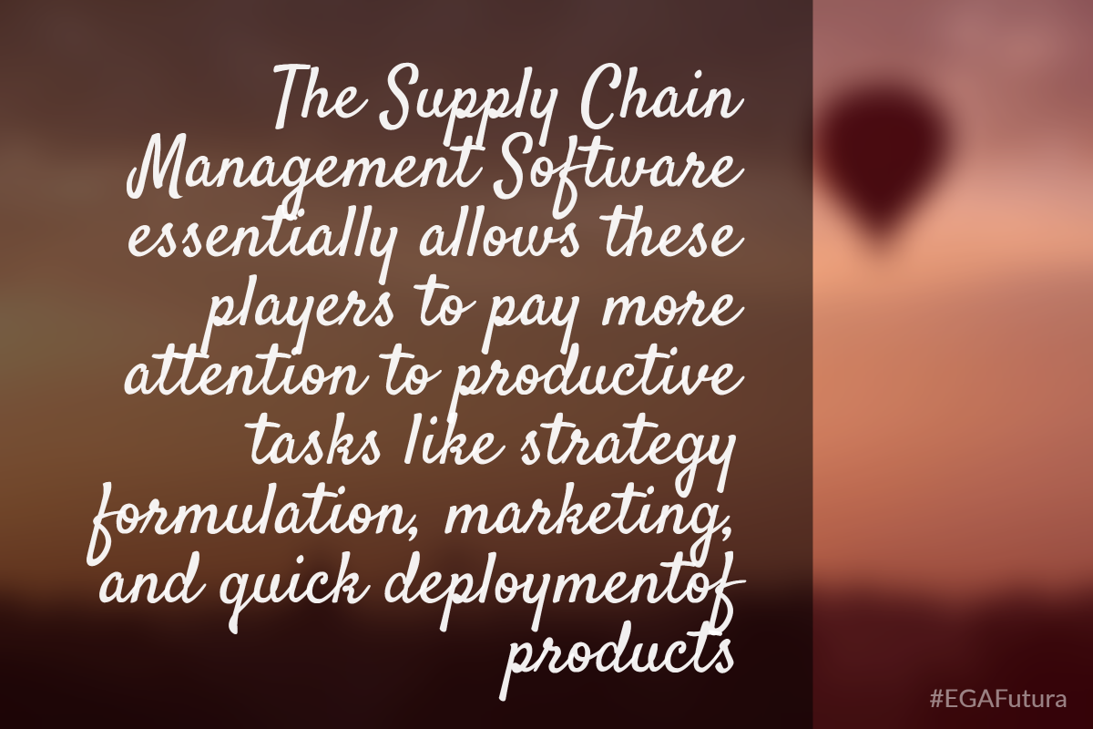 The Supply Chain Management Software essentially allows these players to pay more attention to productive tasks like strategy formulation, marketing, and quick deploymentof products.