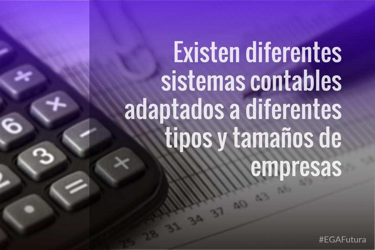 Existen diferentes sistemas contables adaptados a diferentes tipos y tamaños de empresas