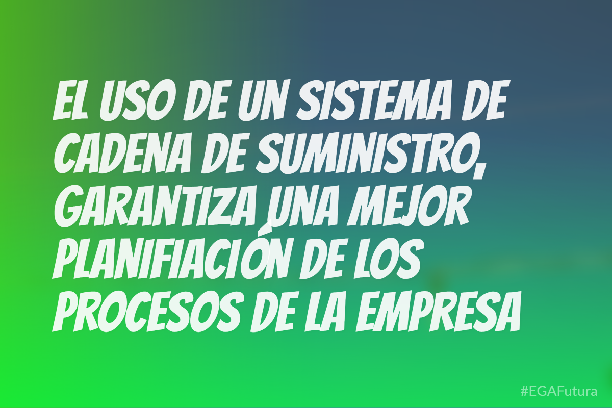 El uso de un sistema de cadena de suministro grarantiza una mejor planificación de los procesos de una empresa