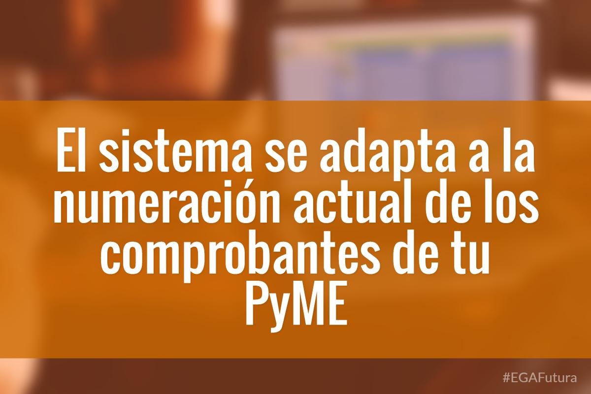 El sistema se adapta a la numeración actual de los comprobantes de tu PyME