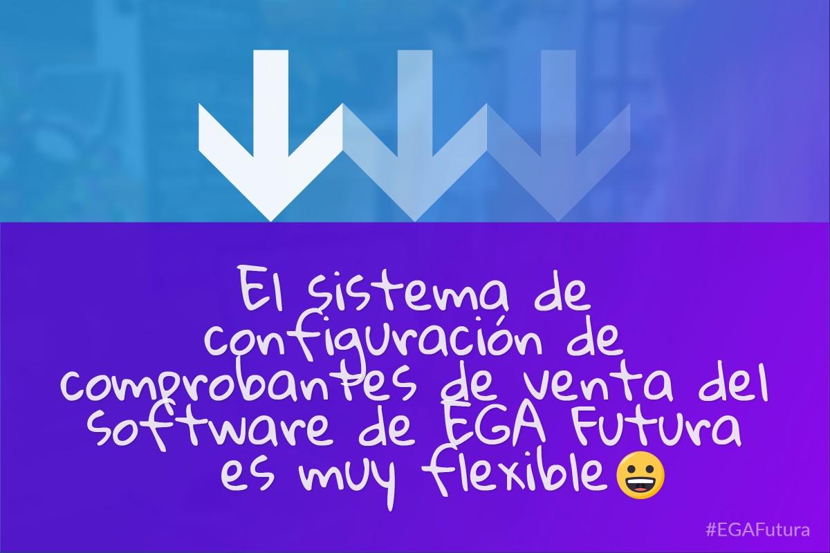 El sistema de configuración de comprobantes de venta del software de EGA Futura es muy flexible