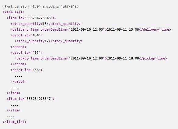 Dostupnostní XML feed