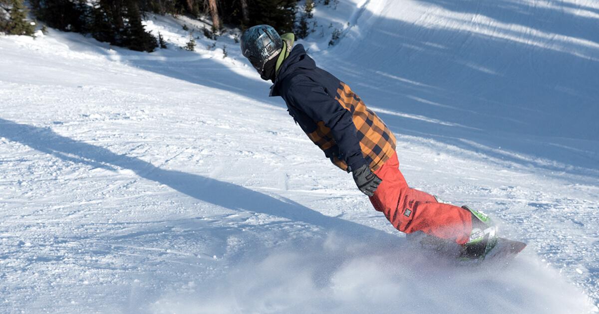 Snowboard Lines in Powder