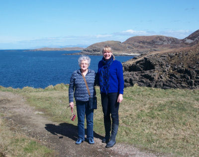 Claire and mother at Ardnamurchan