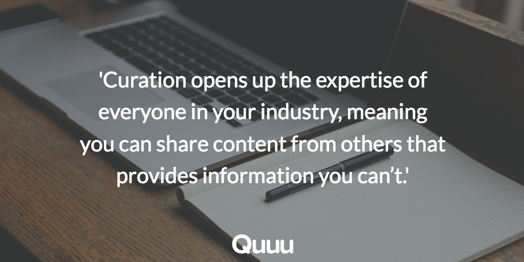 Curation quote