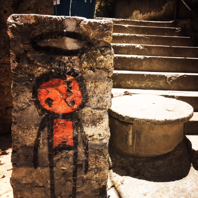 Art at the entrance of Vidigal favela, Rio de Janeiro