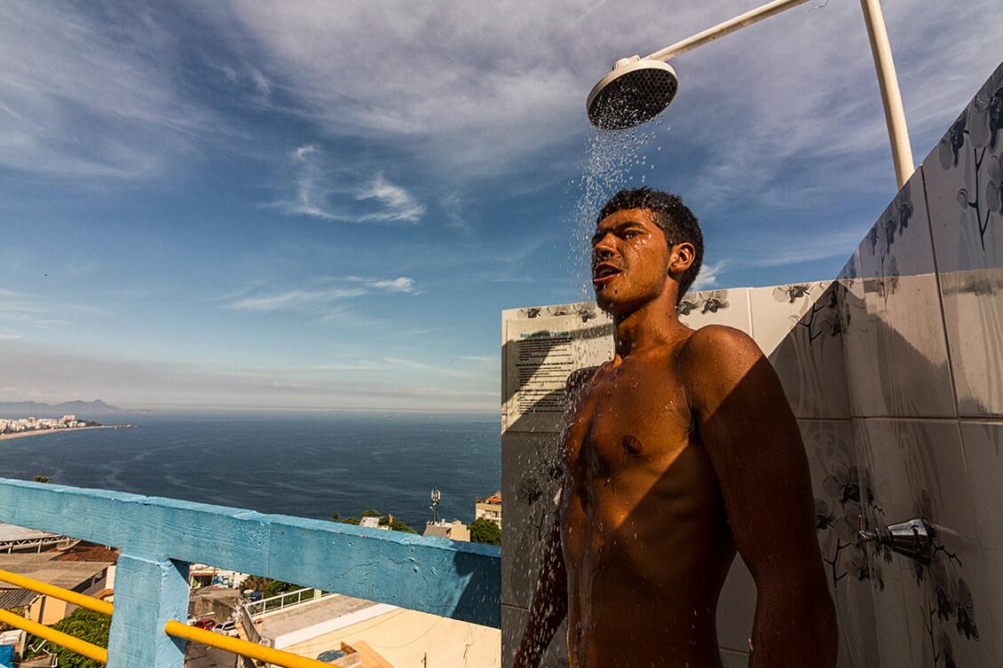 favela experience terrace ocean view vidigal rio de janeiro