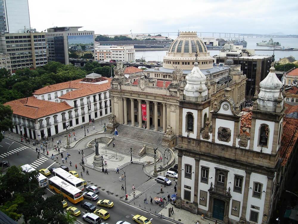 Paço Imperial Assembleia Legislativa and São José Church
