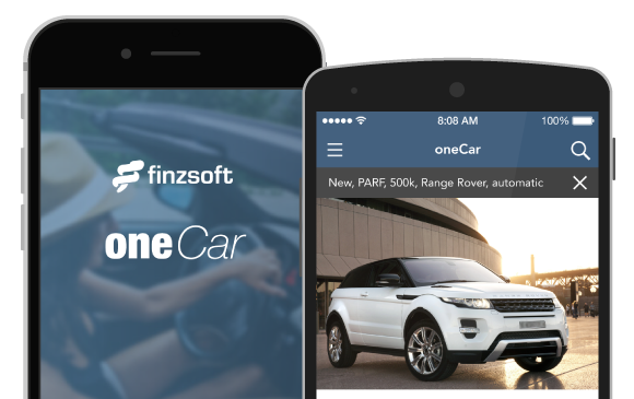 Preview of the oneCar app