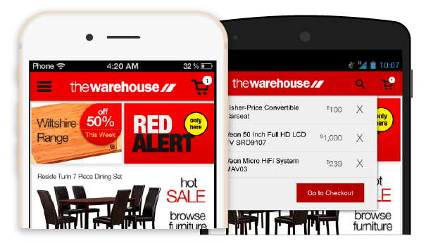 Preview of the Warehouse app