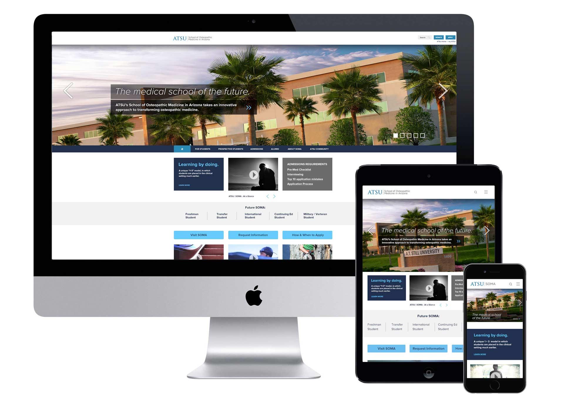 Home page, Responsive design, UX design, Information Architecture