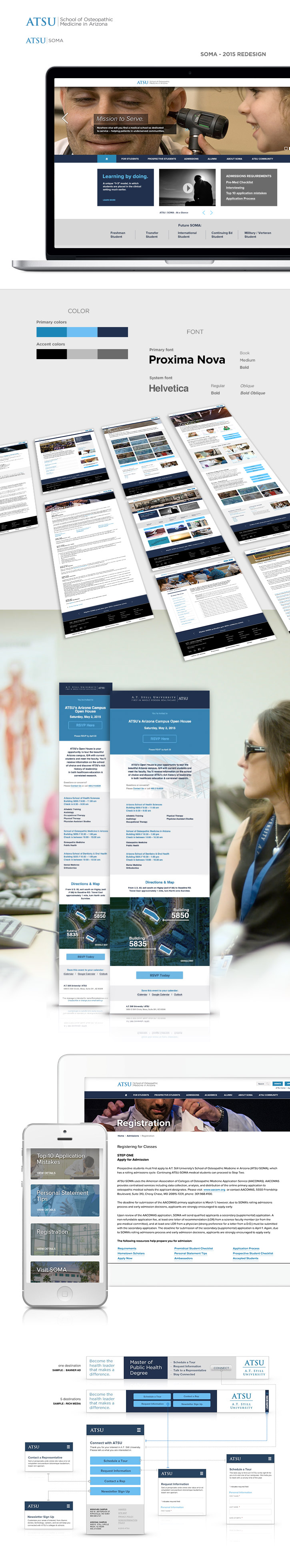 Responsive design, UX design, Information Architecture, Tertiary pages
