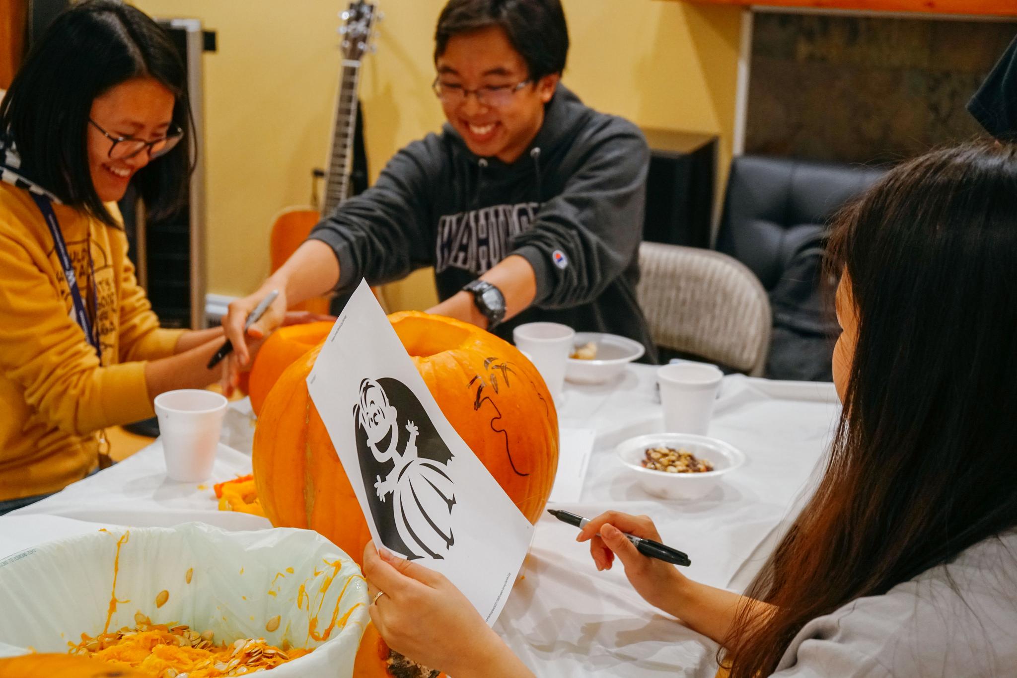 college students halloween fun