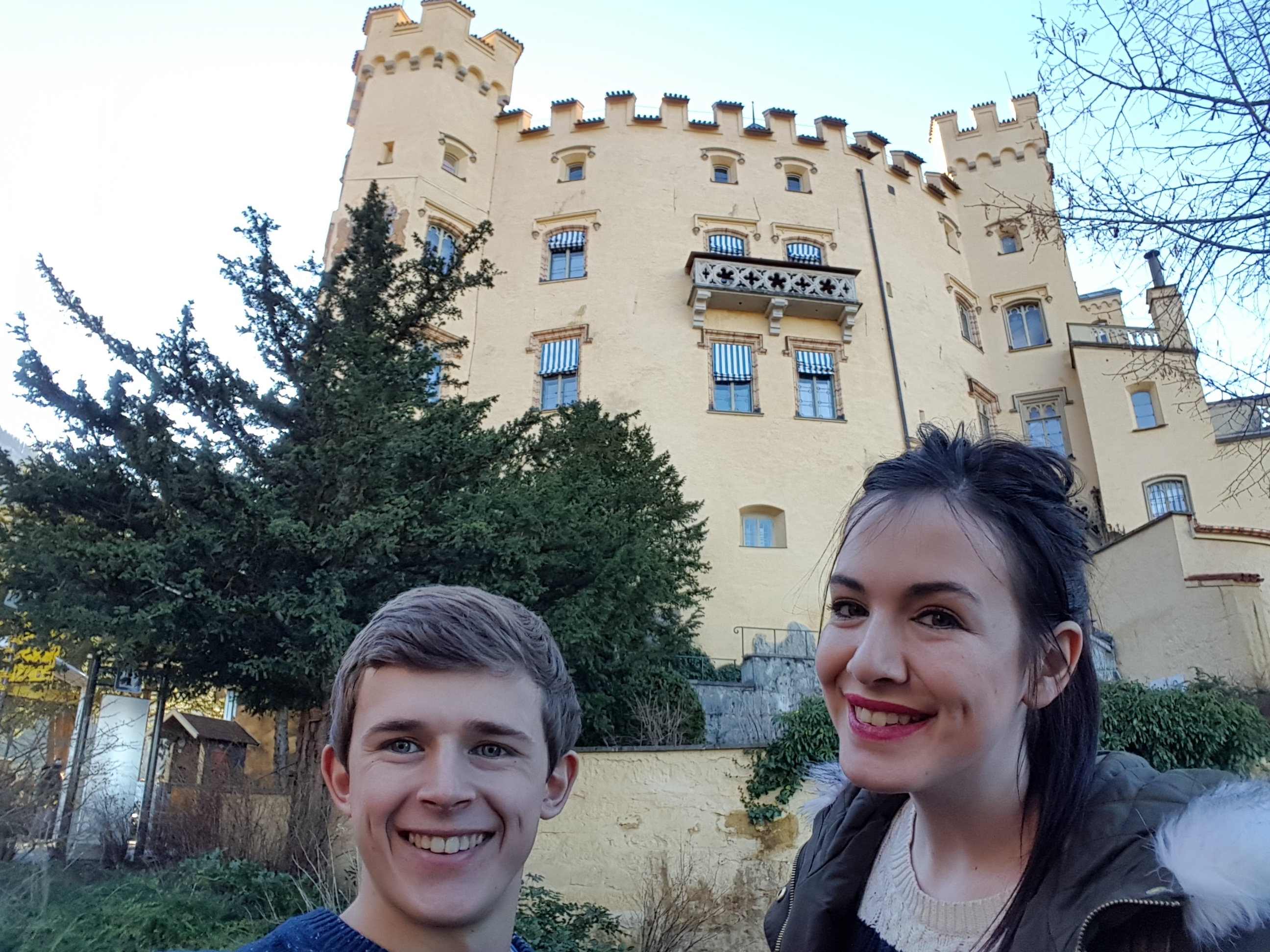Us at Hohenschwangau Castle, Southern Bavaria