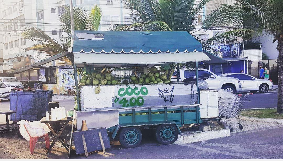 Coconut stand in Villa Velha