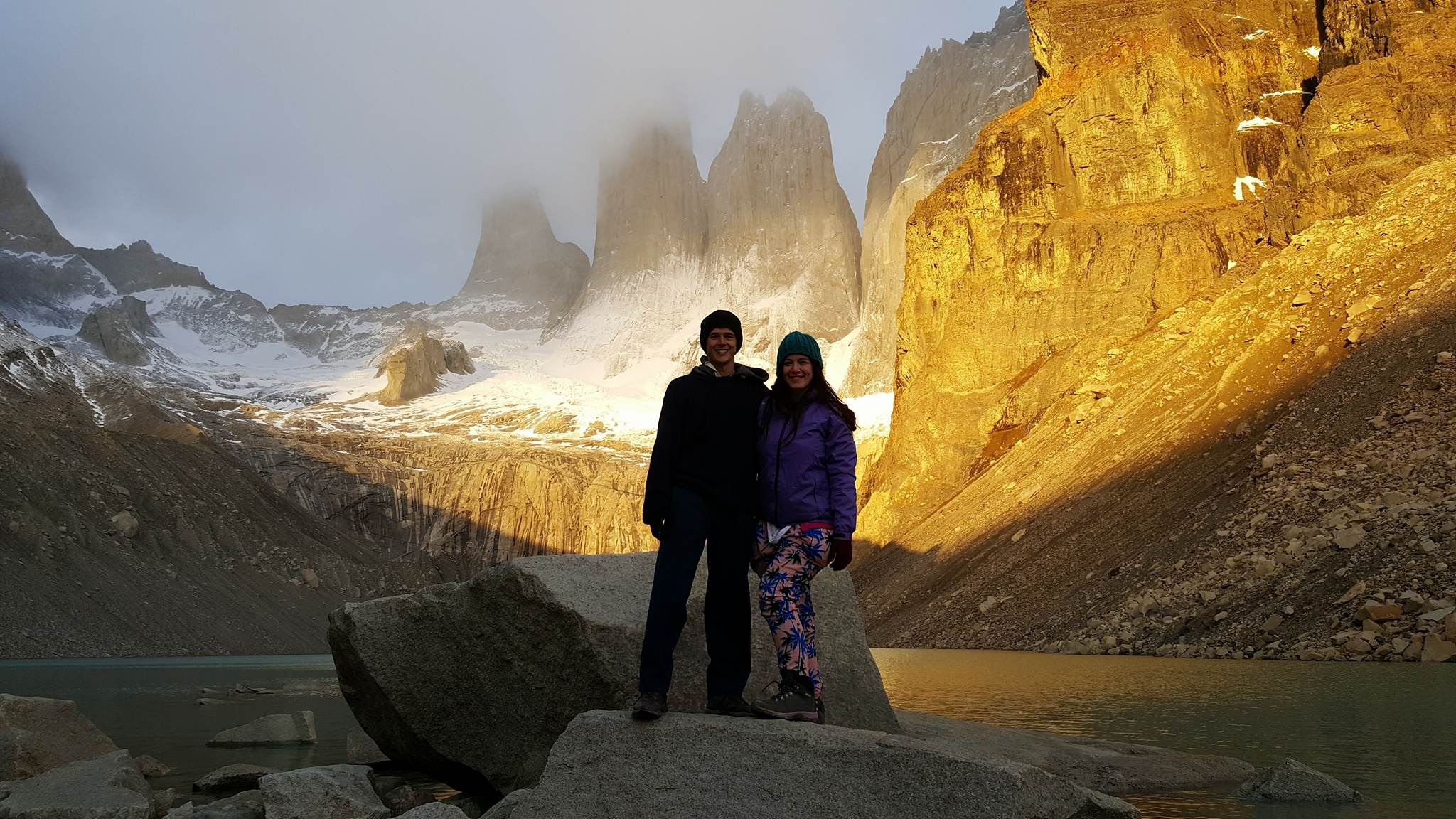 Sunrise at torres del paine national park