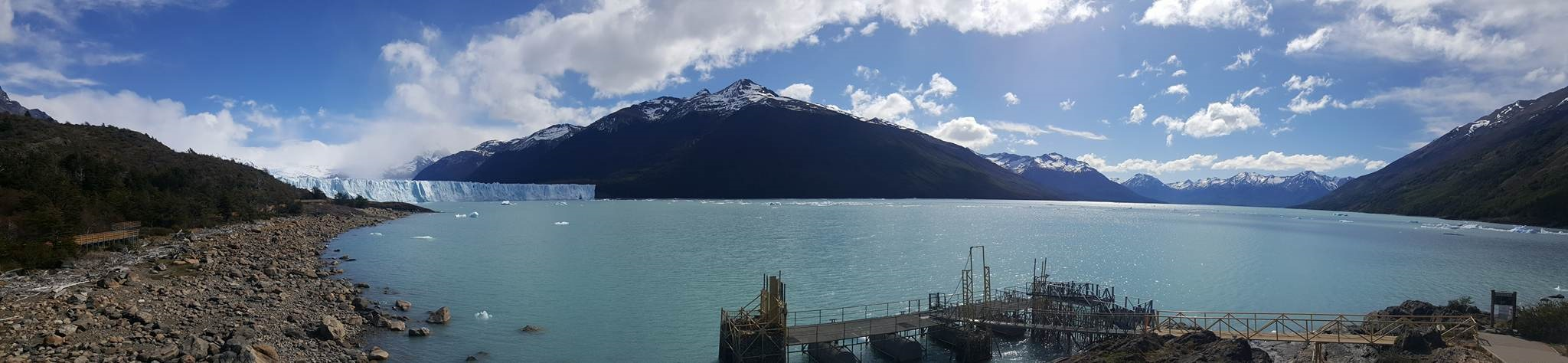 Panoramic view of Perito Moreno glacier