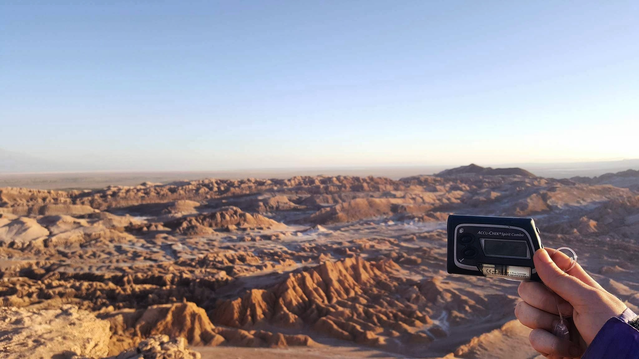 Insulin pump in the Atacama desert