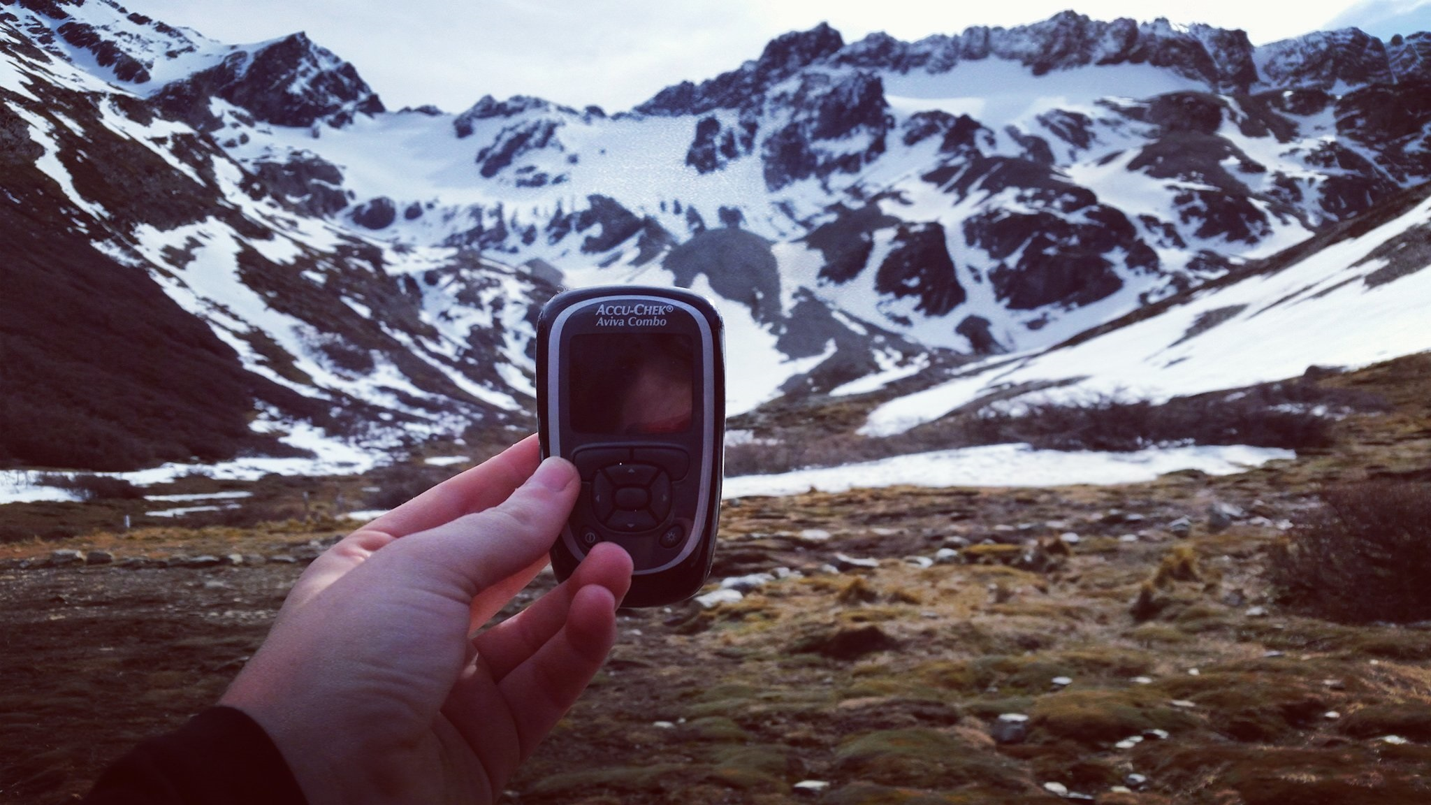 Diabetic monitor in Ushuaia, Patagonia