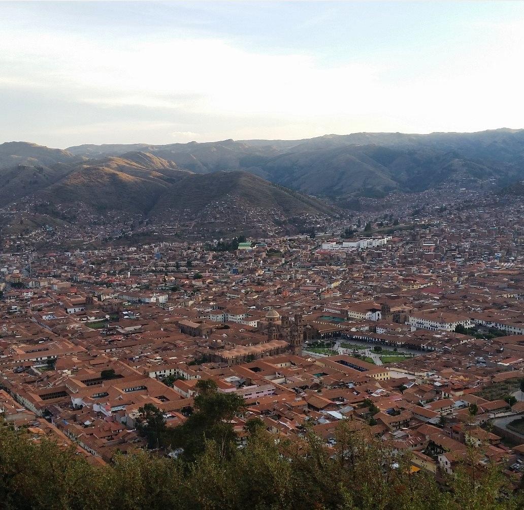Panarama of Cusco in Peru