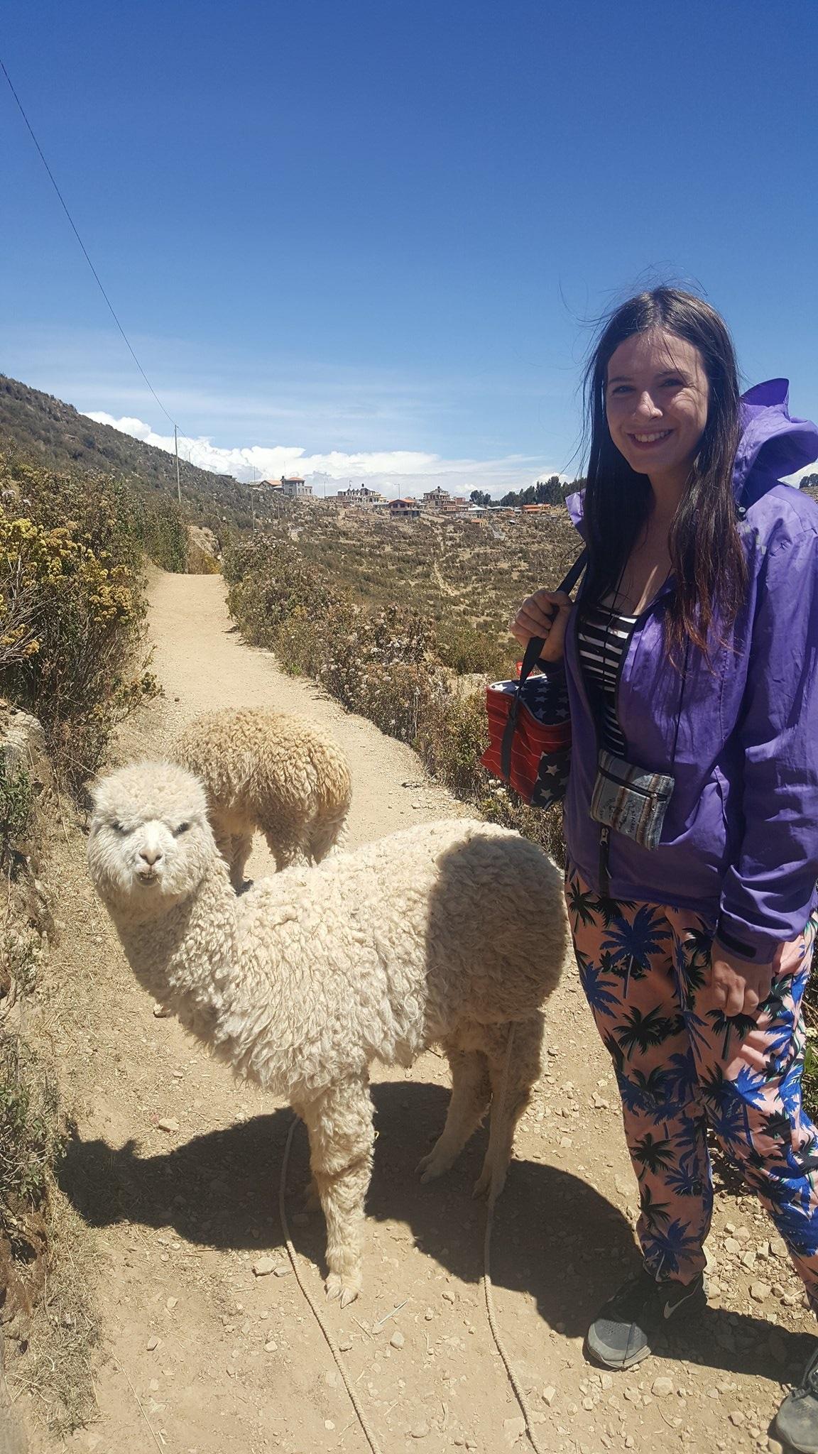 hiking Isla del sol in Bolivia