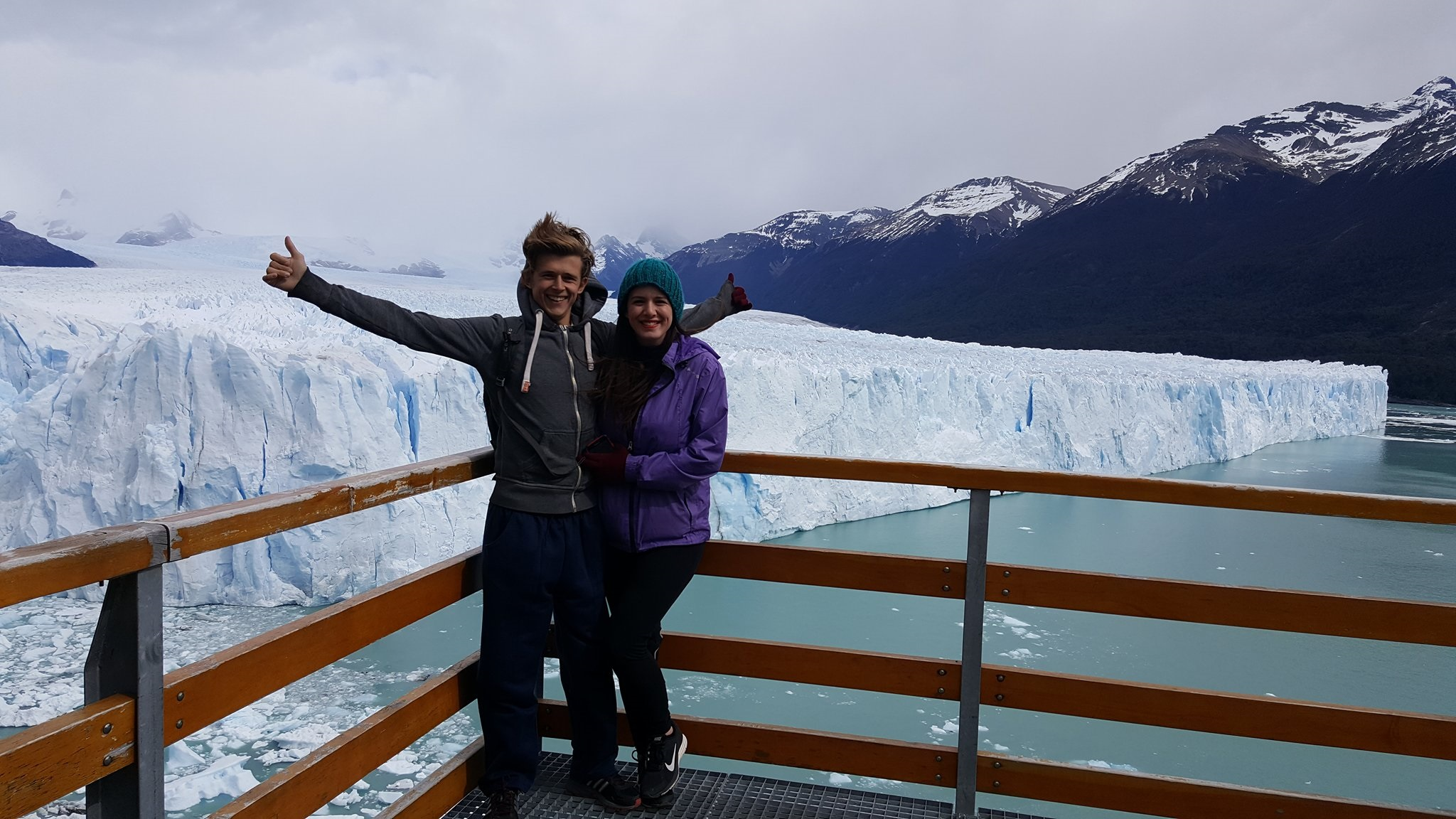In front of Perito Moreno Glacier