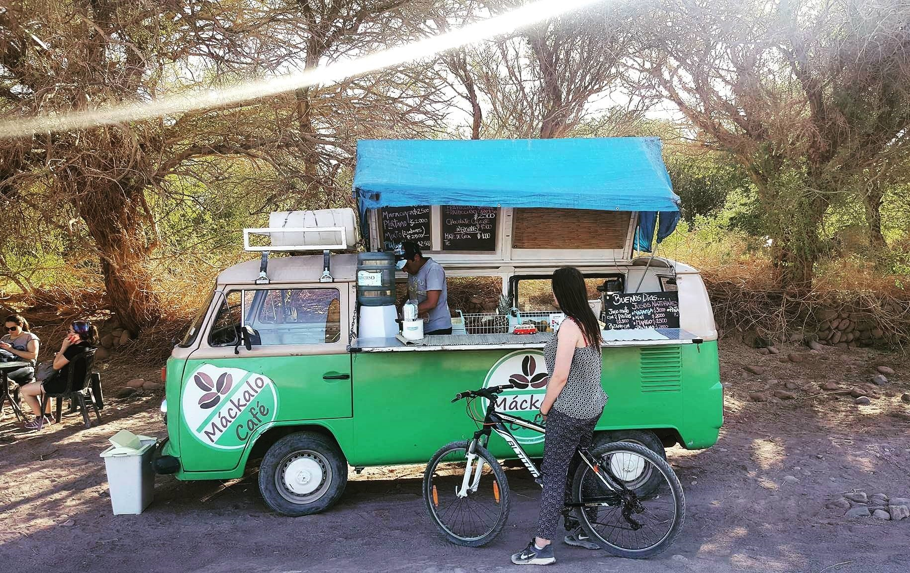 coffee truck in northern Chile
