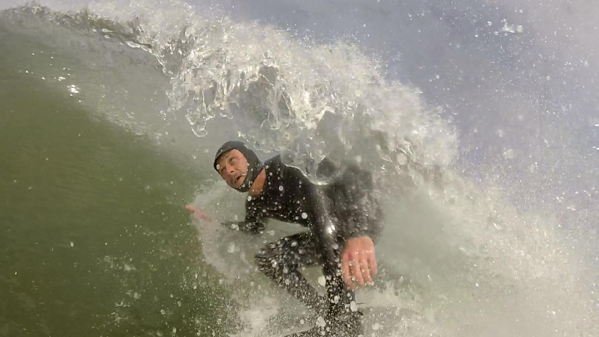 Surfing Ocean Beach GoPro Barrel Fram Grab