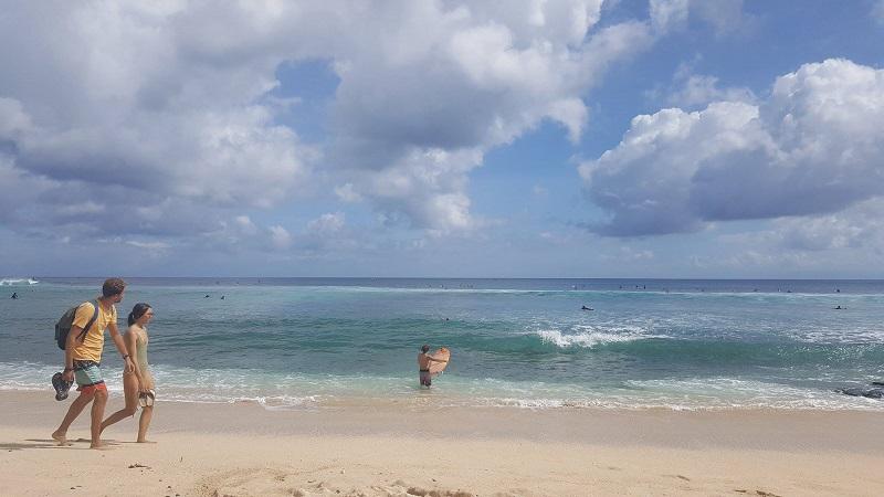 surfing Jimbaran beach Bali