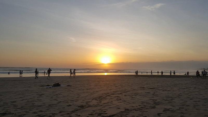 Sunset in Seminyak Beach, Bali