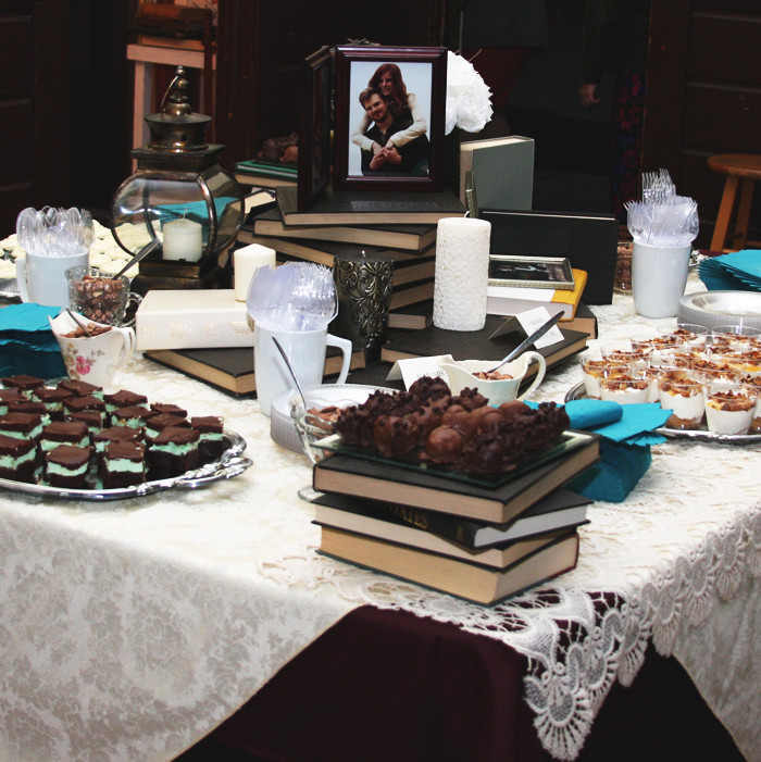 Dessert table at our wedding