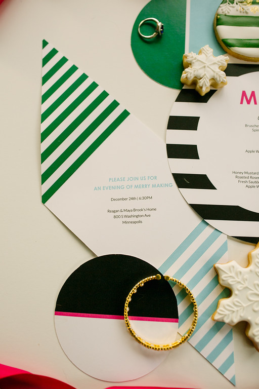 Custom bright and bold holiday invitation Paper Paragon