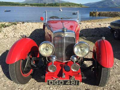 A wonderful vintage Aston Martin visits The Pierhouse in June