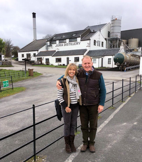 Nick and Nikki Horne on the isle of Jura