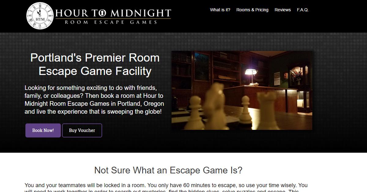 hour to midnight - room escape games | portland, oregon