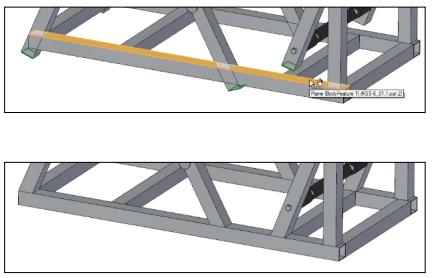 Замена множества граней в сборке solid edge st9