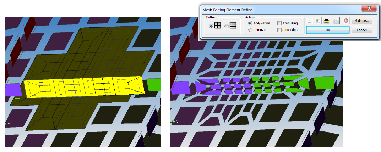 интерактивное измельчение femap 11.3