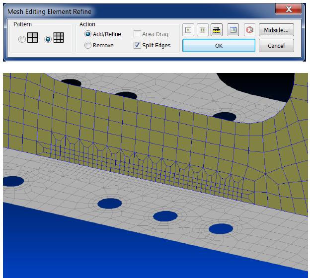 split edges femap 11.3