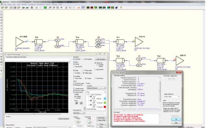 PADS Linesim: предтопологический анализ целостности сигналов