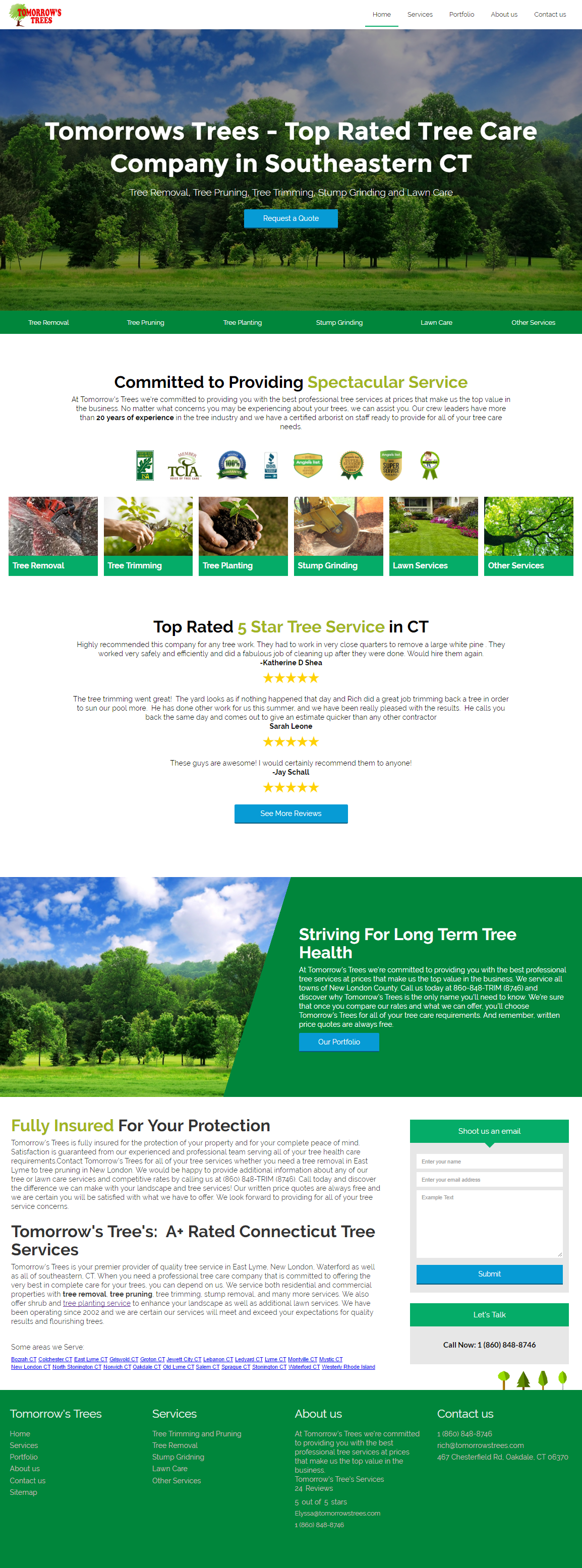 Tomorrows Trees Montville CT Web Design - Montville Website Design