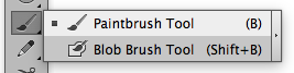 Paintbrush Tool on the Illustrator Tool Bar