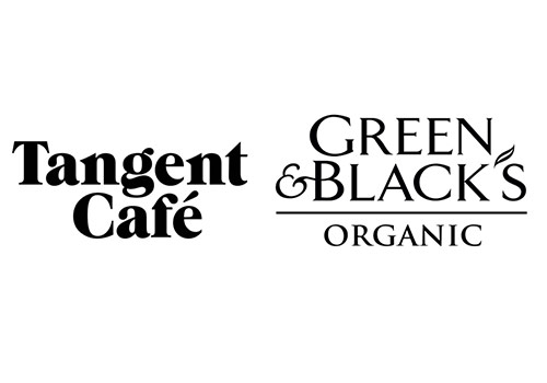 Tangent Cafe and Green & Black's logo compared.