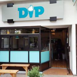 DIP ice cream storefront logo