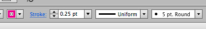 Path stroke thickness on the top application bar.