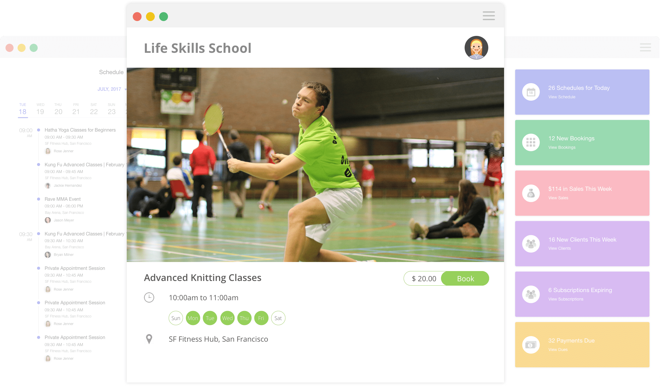 Badminton Software Court Booking System Omnify Untuk Gym Center