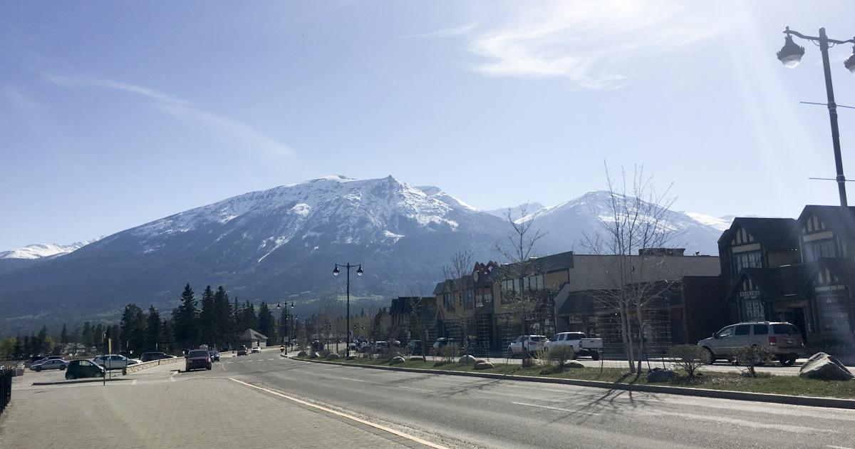 View from Jasper Alberta